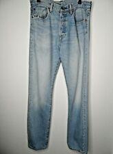 LEVI 501s Mens Jeans W32 L34 Light Blue Stonewash Button Fly