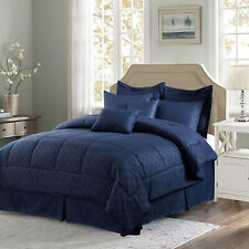 10 Piece Bed In A Bag Comforter Set Reversible Hotel Style Reversible Comforter
