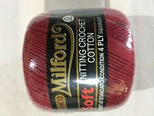 Milford Cotton 4 PLY 50g MAROON RED #0043 Dye Lot 020915