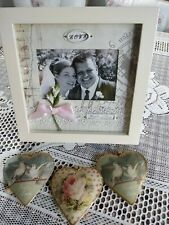 "Shabby Chic Wedding Photo Frame in Cream. 10""x 10"" Unwanted Gift."