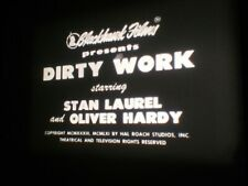 """SUPER 8 B&W SOUND - LAUREL AND HARDY in """"DIRTY WORK"""" (1933) PRE-CODE COMPLETE"""