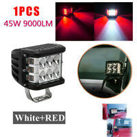 2X 45W 4INCH Cube LED Work Light Pods Triple Side Shooter Combo Beam OffRoad 90W