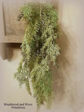 """Primitive Country Variegated Sticky Cedar Hanging Bush 27"""" Long - Very Realistic"""