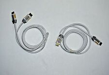 LOT OF TWO (2) - Monster High Speed HDMI Cables - 6 Foot (2 Meter)