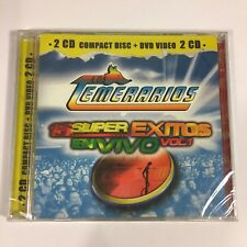 Los Temerarios CD-DVD Video 15 Super Exitos En Vivo New Sealed Mega Rare