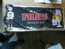 Filou reclame bartowel beer sign new in blister Belgian ale