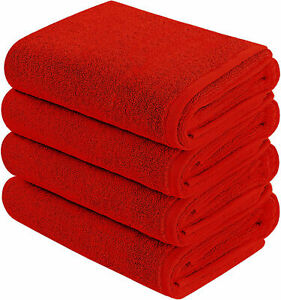 3-Pack:100% Cotton Ultra-Soft Absorbent Bathroom Towels Large Bath Beach Towels