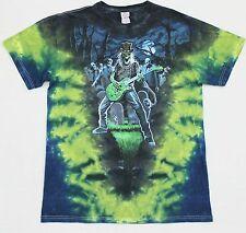 LIQUID BLUE (2012) Tie-Dye Cotton SS Graphic Tee T-Shirt (M)