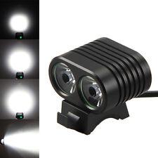 6000Lm 2x XM-L2 LED Cee MTB Linterna Para Bicicleta Foco Luz Delantera Lámpara
