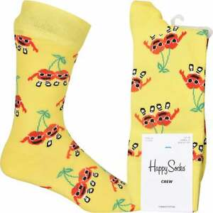 Happy Socks Cherry Mates Food Socks, Yellow
