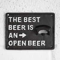 Cast Iron Wall Mounted Bottle Cap Opener The Best Beer Plaque Sign Outdoor Patio