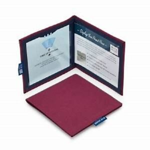 Burgundy Panama Disabled Badge Permit Holder With Time Clock
