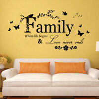 Family Letter Quote Removable Vinyl Decal Art Mural Home Room Decor Wall Sticker