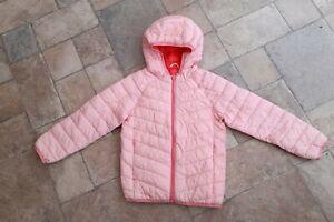 M&S Girls Pink Puffa Lightweight Coat/Jacket 7-8 Years *Bargain*