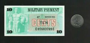 MPC Military Payment Certificate Series 692 10c Cents Note Uncirculated