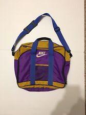 Vintage Nike 1994 Mead Gym Duffle Travel Bag Orange Purple Blue Messenger Bag