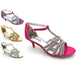 WOMENS LADIES EVENING PARTY DIAMANTE WEDDING BRIDAL SANDAL BROAD FIT WIDE FIT S5