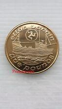 1992 * * UNC Isla de Man Ellan Vannin barco de pesca £ 5 cinco libras moneda-KM#215