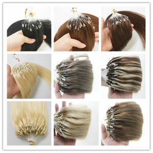 Micro Ring Loop Tip Hair Extensions Silicone Micro Beads Link Remy Human Hair 1g