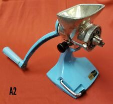 Rare Vintage Harper Limpet Mincer Meat Grinder Tin Coated Blue Turquiose Retro