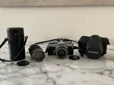 Olympus OM-1 MD 35mm Camera Zuiko f1.8 50mm lens + Zuiko 1:4 F75 150mm Auto Zoom