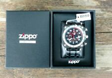 Zippo Black Face Chronograph Sport SS Band Watch 45019 *NEW*