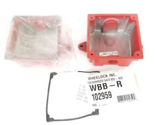 LOT OF 2 NEW WHEELOCK WBB-R OUTDOOR BACKBOX RED WBBR