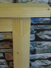 Wooden Art Deco Style Engraved Fire Surround Solid Pine Bespoke Hand made