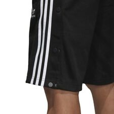 f20823d4feee85 Men s adidas Snap Shorts Black White Sport Life Line Buttoms Closure ...