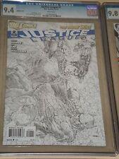 Justice League #2 1:200 Skecth Variant CGC 9.4 New 52 Batman Superman Wonder