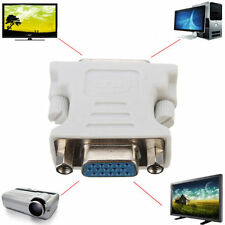 DVI DVI-D (24+1) Male to VGA 15 Pin Female M/F Lead Adapter Connector PC Laptop