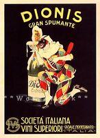 Dionis Gran Spumante 1925 Vintage Poster Print Italian Drinks Wine Decor Art