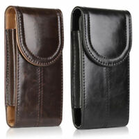 Vertical Genuine Leather Belt Pouch Carrying Case for Samsung iPhone Huawei LG