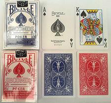 2 mazzi Carte da gioco Bicycle Seconds Standard index(BLU E ROSSO)formato poker