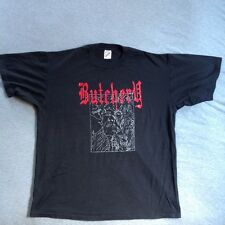 BUTCHERY vintage t shirt EARLY 90S DEATH METAL BAND entombed grave tour carcass