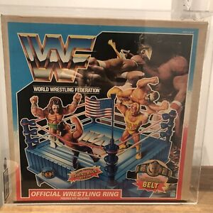WWF/WWE Hasbro Wrestling Ring US Version Brand New Boxed And UKG Graded 75%