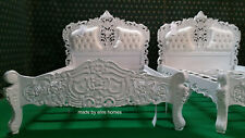 Bespoke Double Size Baroque carved mahogany designer French Rococo bed