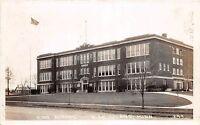 B81/ Bird Island Minnesota Mn Real Photo RPPC Postcard 1929 High School Building