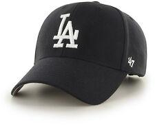 on sale 13d4d 1b4aa Los Angeles Dodgers  47 Brand Black Adjustable MVP Hat