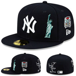 New Era New York Yankees Fitted Hat statue of liberty NY City Map Patch Size 7