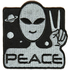 Embroidered Peace Alien Space Sew or Iron on Patch Biker Patch