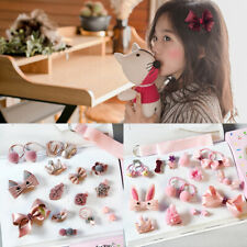 18 Pcs/Set Cute Hair accessory Set Baby Fabric Bow Hairpin Children Hairpin Gift