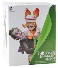 Dc Bombshells : Joker & Harley Quinn Statue : Brand New (Dcu Comics)
