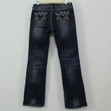 Rock 47 Wrangler Distressed Stretch Denim Embellished Jeans Size 30 x 34.5