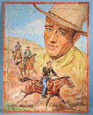 1951 John Wayne Original Frame Tray Puzzle Saalfield Western Cowboy Movie Star