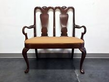 HICKORY CHAIR Queen Anne Style Mahogany Bench / Settee