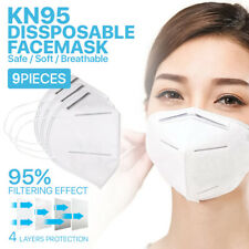 [9 PCS] 4-Layer KN95 Disposable Face Mask Non Medical Earloop Safety Mouth Cover