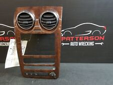 2008 FORD TAURUS X Radio Face Plate Dash Trim Bezel Woodgrain Eddie Bauer