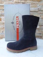 Prada Gr 32 Boots  Stiefel Kinderschuhe Mädchen Schuhe Shoes blau neu UVP 219€