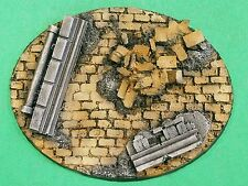 Warhammer 40K Resin Large Oval Rubble Base #1